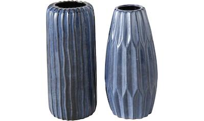BOLTZE Tischvase »Aquarel«, aus Porzellan, Höhe ca. 23 cm + 24 cm kaufen
