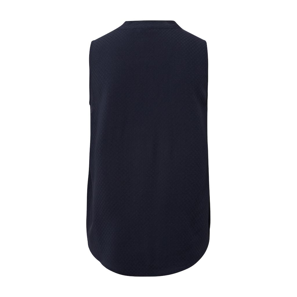 TOM TAILOR Bandeautop »Bluse mit Struktumuster«