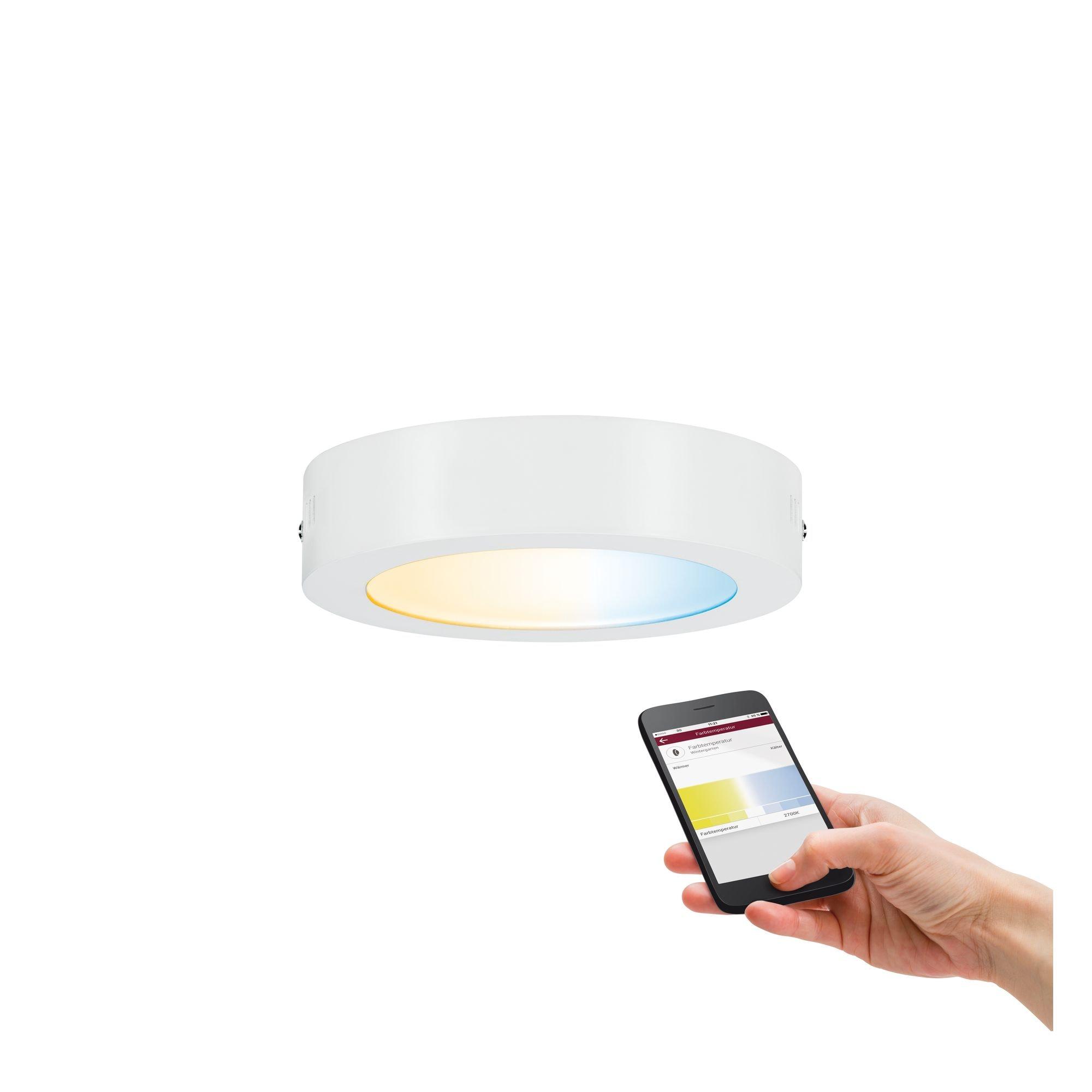 Paulmann,LED Deckenleuchte LED-Panel Tunable White Weiß matt 11W Cesena