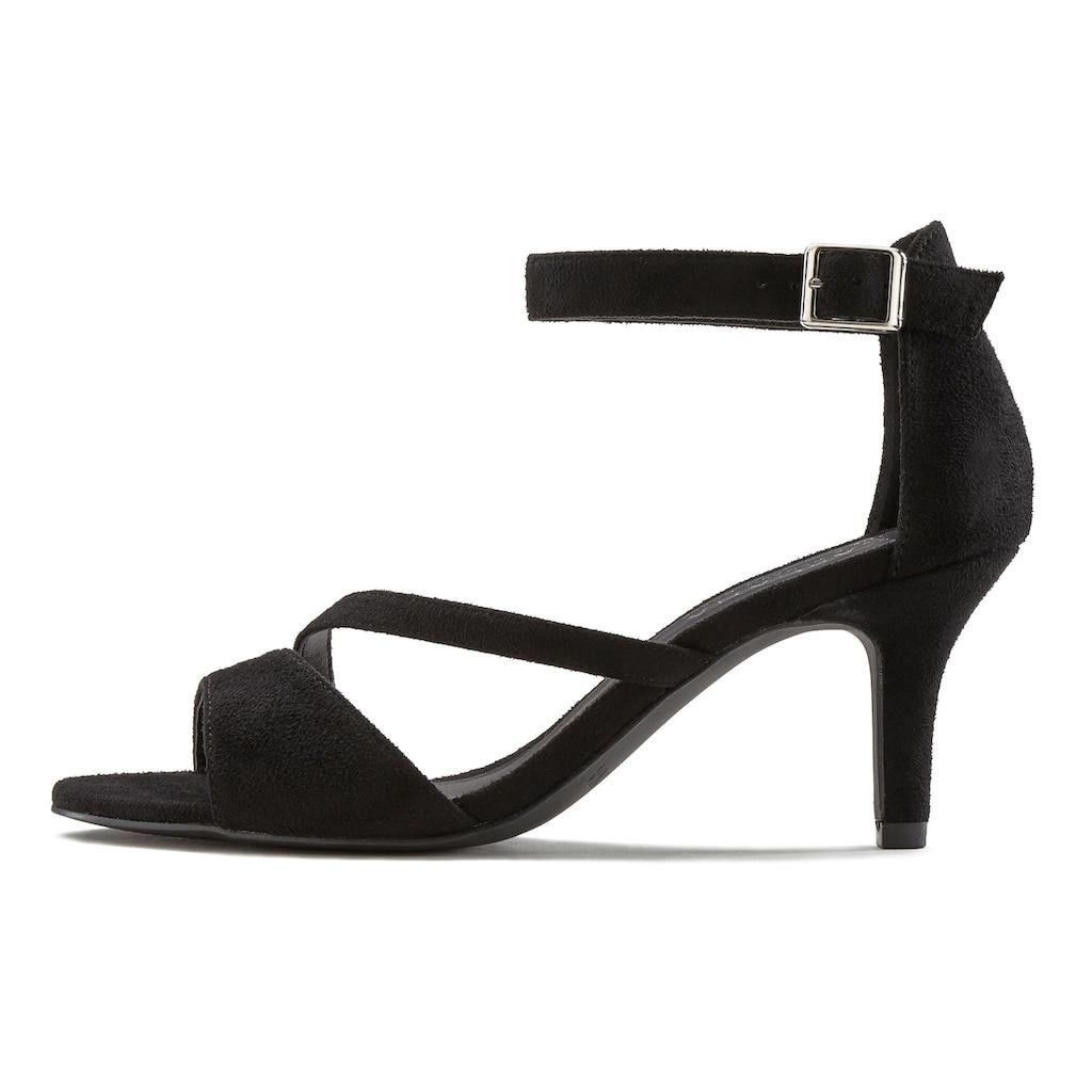 LASCANA Sandalette, mit raffiniertem Riemchen und bequemer Absatzhöhe