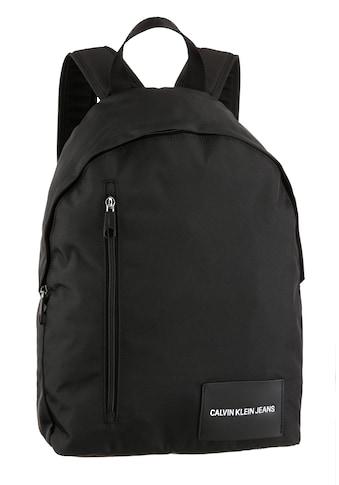 Calvin Klein Jeans Cityrucksack »ROUND BP 43W/FRONT ZIP«, aus 100 % recyceltem Material kaufen
