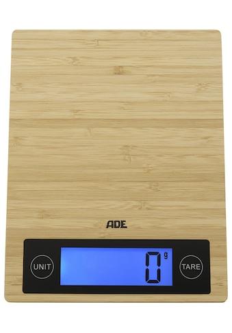ADE Küchenwaage »KE 1128 Ramona«, mit echter Bambus-Wiegefläche, LCD-Display kaufen