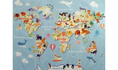 Kinderteppich, »Landkarte«, Lüttenhütt, rechteckig, Höhe 8 mm, gedruckt kaufen