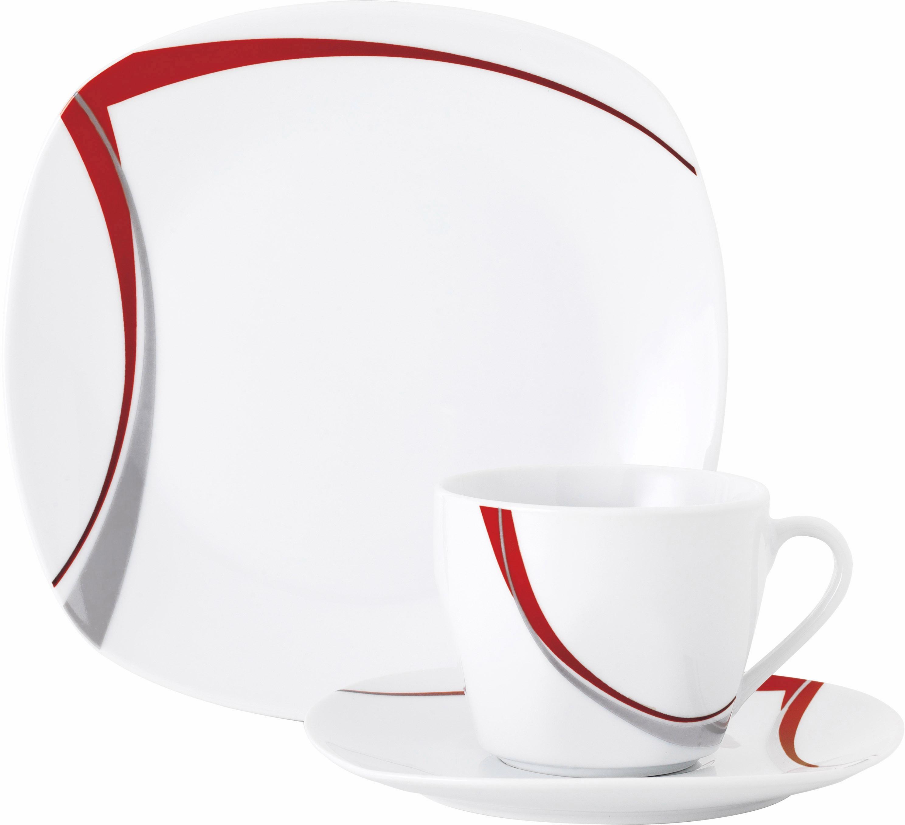 Van Well Kaffeeservice Porzellan 18 Teile CASA
