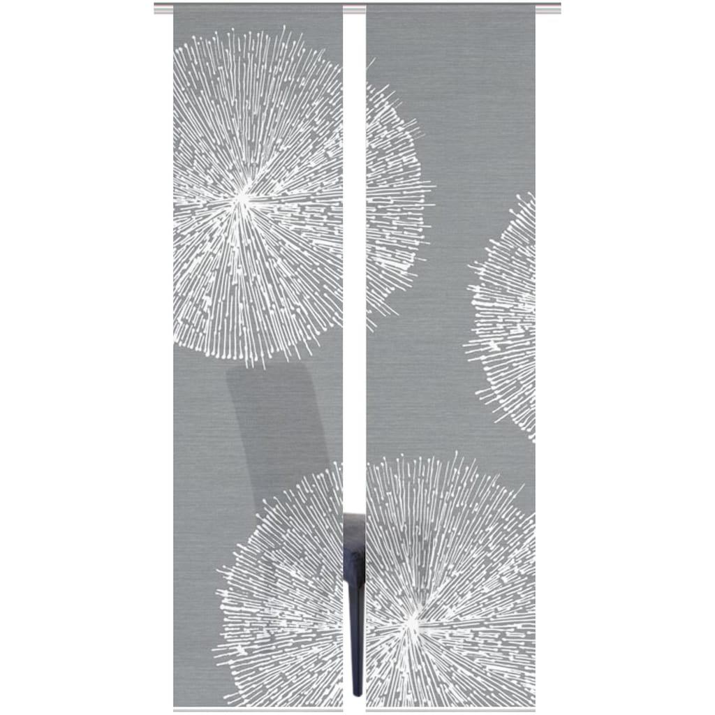 Vision S Schiebegardine »2ER SET CRESTON«, HxB: 260x60, Schiebevorhang 2er Set Digitaldruck