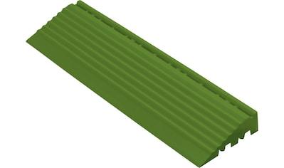florco® Klickfliesen-Kantenleiste, Seitenteil grün mit Öse, 30 cm kaufen