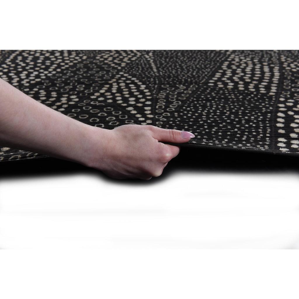 DIE HAUSKUNST Teppich »Chiya Tiama 3«, rechteckig, 4 mm Höhe, Flachgewebe, handgewebt, mit Fransen, Wohnzimmer