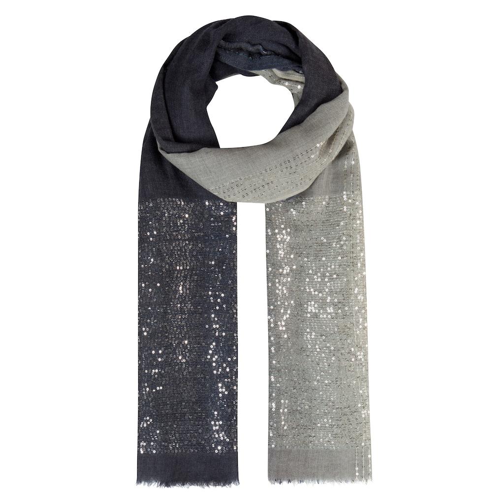 Codello Glamour-Schal mit Pailletten aus feiner Wolle