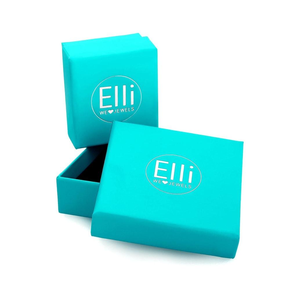 Elli Premium Kette mit Anhänger »Kleeblatt, 0108723016«, mit Diamant