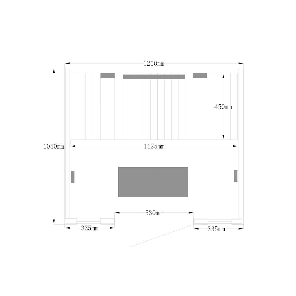 HOME DELUXE Infrarotkabine »Redsun M Deluxe Plus«