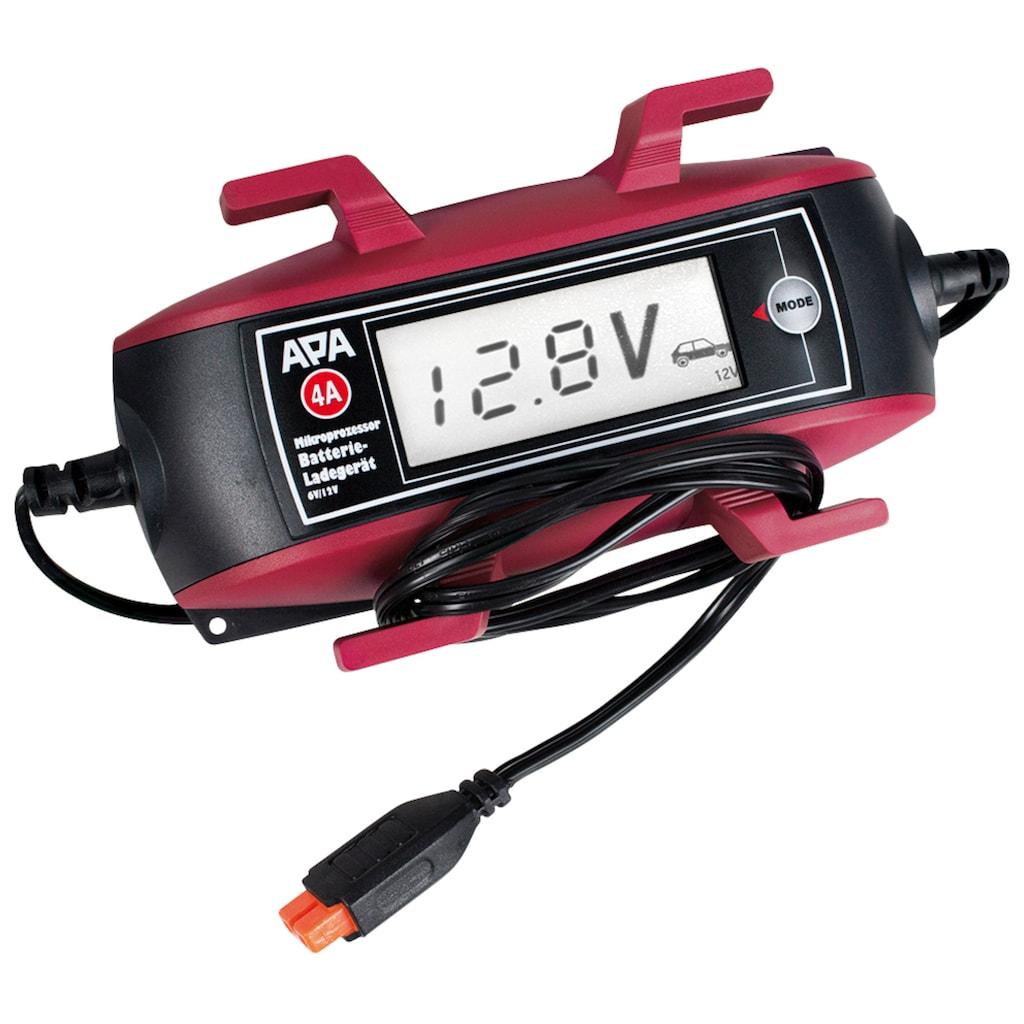 APA Batterie-Ladegerät, 4000 mA, mit Kabelaufroller und großem Display