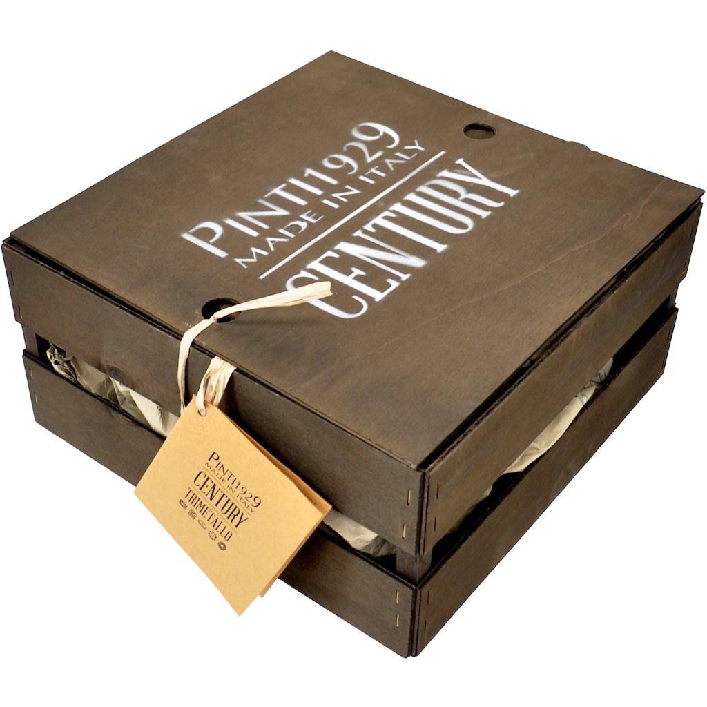 PINTINOX Fleischtopf »Century«, Edelstahl 18/0-Aluminium-Edelstahl 18/0, (1 tlg.), Boden und Seitenwände komplett aus 3 Schicht Material gefertigt, Induktion
