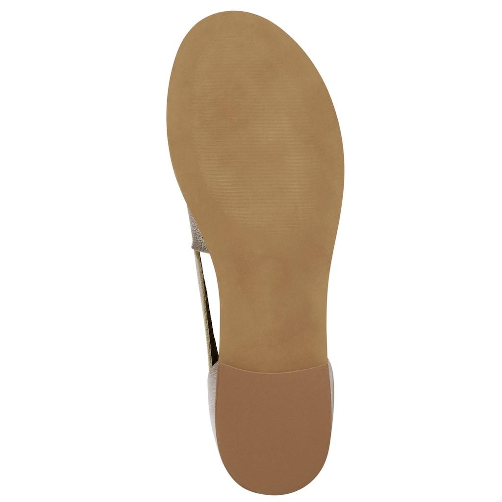 Heine Sommerslipper-Sandale aus Leder