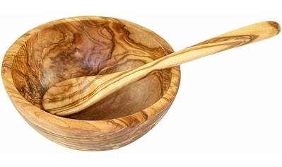 Olivenholz - erleben Müslischale Holz, (Set 2 - tlg.) kaufen