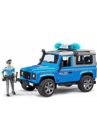 Bruder® Spielzeug-Polizei »Land Rover Defender St. Wagon Polizeifahrzeug, 1:16, blau«,... kaufen