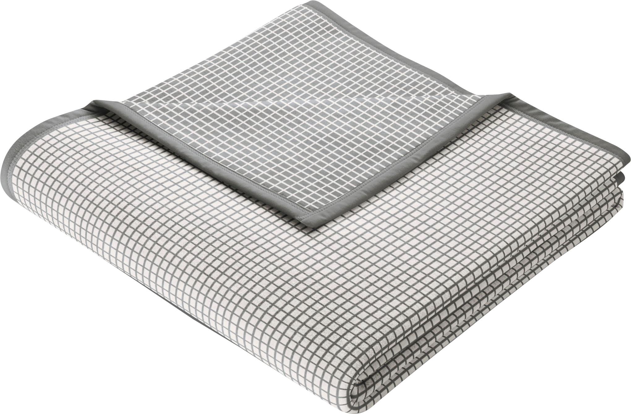 BIEDERLACK Wohndecke New Cotton, leichte Webdecke grau Baumwolldecken Decken