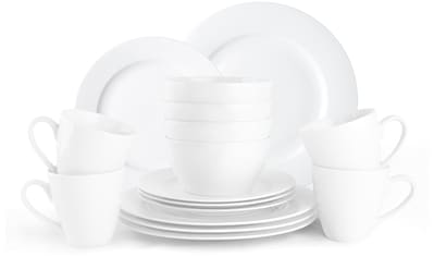 JACKIES BAY Frühstücks-Geschirrset »Jackies Bay White«, (Set, 16 tlg.), Porzellan kaufen