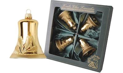 Krebs Glas Lauscha Christbaumschmuck »Glocken«, (Set, 4 tlg.), mundgeblasen, goldfarben kaufen
