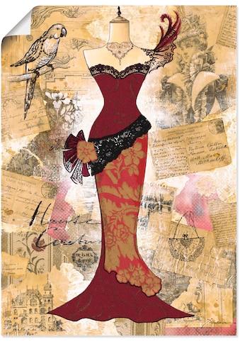 Artland Wandbild »Antikes Kleid - Collage«, Mode, (1 St.), in vielen Größen & Produktarten - Alubild / Outdoorbild für den Außenbereich, Leinwandbild, Poster, Wandaufkleber / Wandtattoo auch für Badezimmer geeignet kaufen