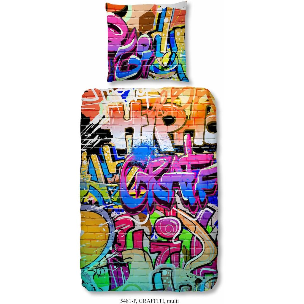 good morning Kinderbettwäsche »Graffiti«, im Graffitidesign