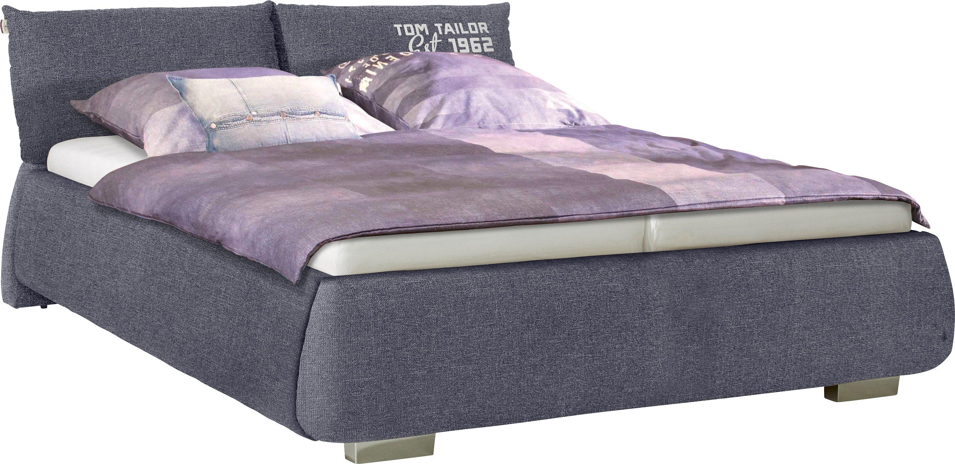 TOM TAILOR Polsterbett SOFT PILLOW | Schlafzimmer > Betten > Polsterbetten | Grau | Kunstleder - Kunststoff | Tom Tailor