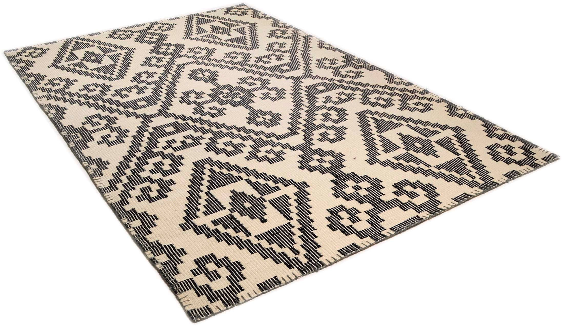 Wollteppich Large Pattern Kelim TOM TAILOR rechteckig Höhe 6 mm