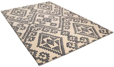 TOM TAILOR Wollteppich »Large Pattern Kelim«, rechteckig, 6 mm Höhe, reine Wolle,... kaufen