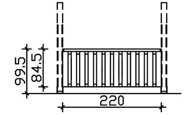 SKANHOLZ Brüstungsgeländer BxH: 220x84 cm kaufen