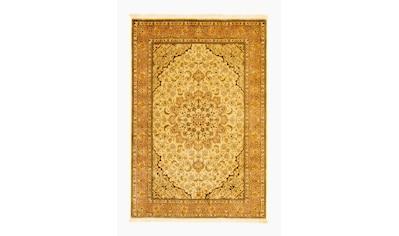 morgenland Teppich »Täbriz 50 Raj Teppich handgeknüpft beige«, rechteckig, 7 mm Höhe,... kaufen
