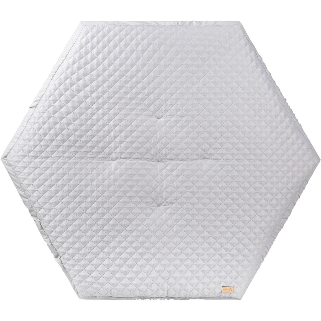 roba® Laufgitter »Style weiß, 6-eckig«, bis 15 kg, mit Laufgittereinlage silbergrau