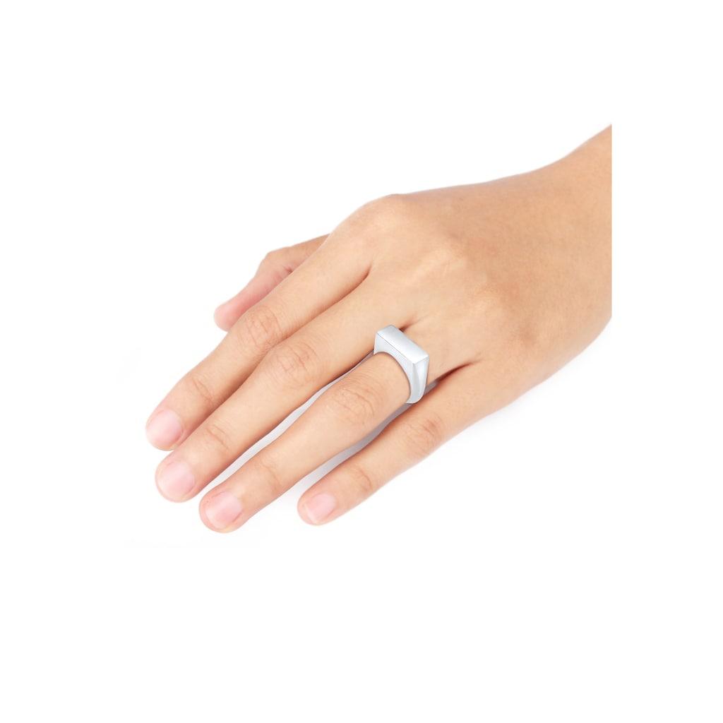 Elli Siegelring »Siegelring Glanz Schlicht Trend 925 Silber«