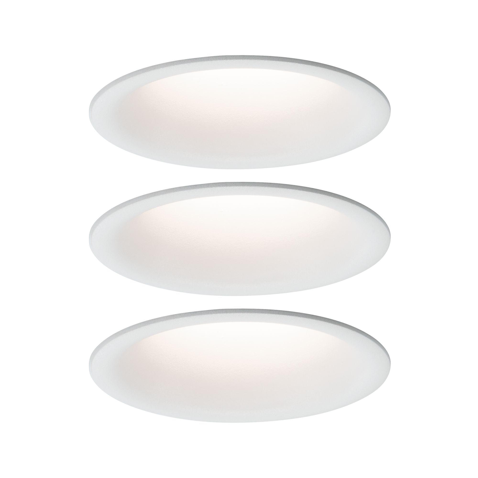 Paulmann LED Einbaustrahler Cymbal 3x6,8W Weiß matt blendfrei dimmbar starr, Warmweiß