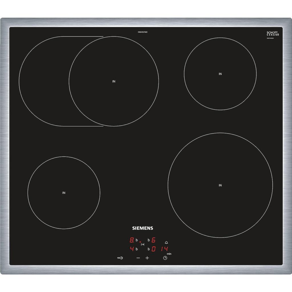 SIEMENS Induktions Herd-Set »EQ521WA0V«, HE517ABS1, mit Teleskopauszug nachrüstbar, (Set, inkl. Pizzaform), PowerBoost