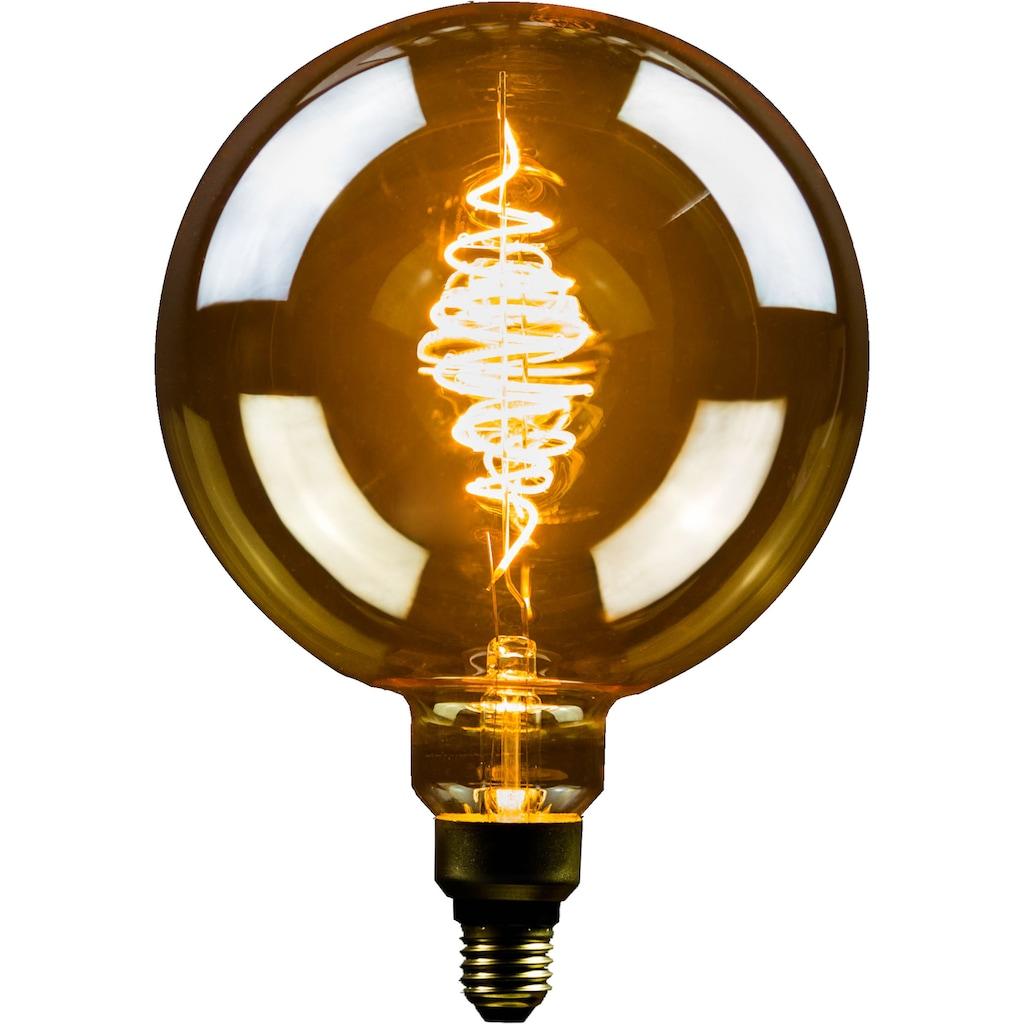 BLULAXA LED-Filament »Vintage XXL«, E27, 2 St., Extra-Warmweiß, 2er-Set, XXL Vintage, gold, superwarmweis