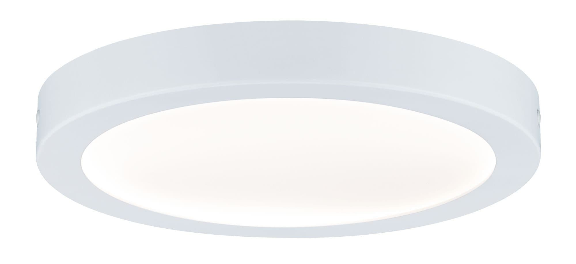 Paulmann LED Deckenleuchte Abia Panel rund 22W Weiß Kunststoff, 1 St., Warmweiß