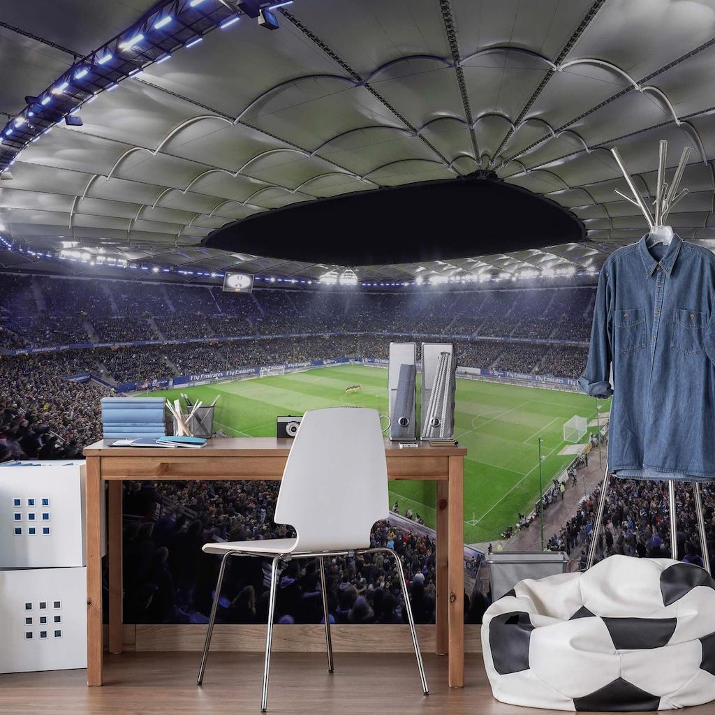 Wall-Art Vliestapete »Hamburger SV im Stadion bei Nacht«