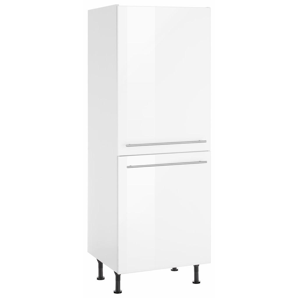 OPTIFIT Kühlumbauschrank »Bern«, 60 cm breit, 176 cm hoch, mit höhenverstellbaren Stellfüßen, mit Metallgriffen, geeignet für Einbaukühlschränke Nischenmaß 88