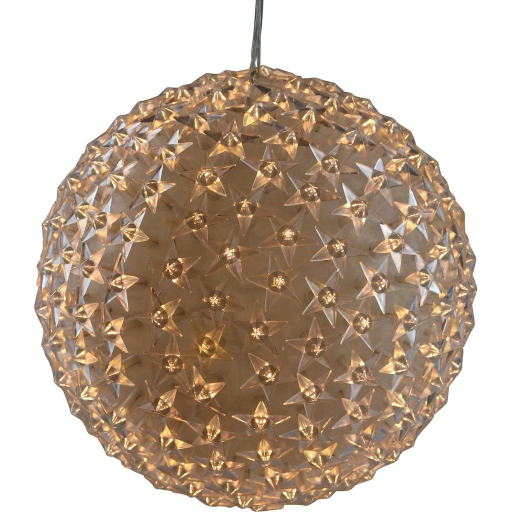 AM Design LED Dekolicht »LED Kugel mit Sternen«, Warmweiß