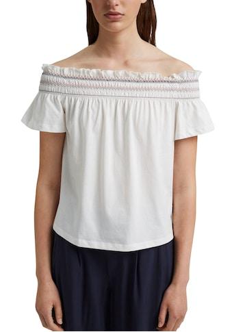 edc by Esprit Carmenshirt, mit femininer Rüsche kaufen