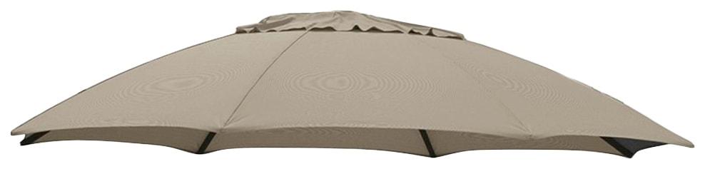 sungarden Ersatzschirmbespannung, Ø 375 cm, rund braun Sonnenschirme -segel Gartenmöbel Gartendeko Ersatzschirmbespannung