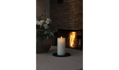 KONSTSMIDE LED-Kerze, LED Echtwachskerze, handgegossen cremeweiß, mit 3D Flamme, Docht... kaufen
