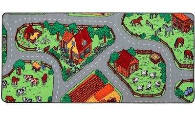 Primaflor-Ideen in Textil Kinderteppich »BAUERNHOF«, rechteckig, 5 mm Höhe, Straßen-Spielteppich kaufen