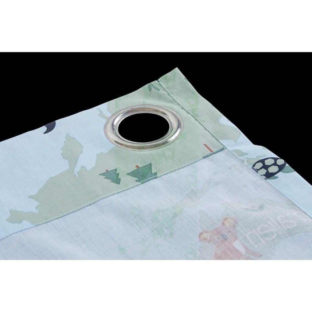 Lüttenhütt Gardine »Weltkarte«, Nachhaltige Kindergardine