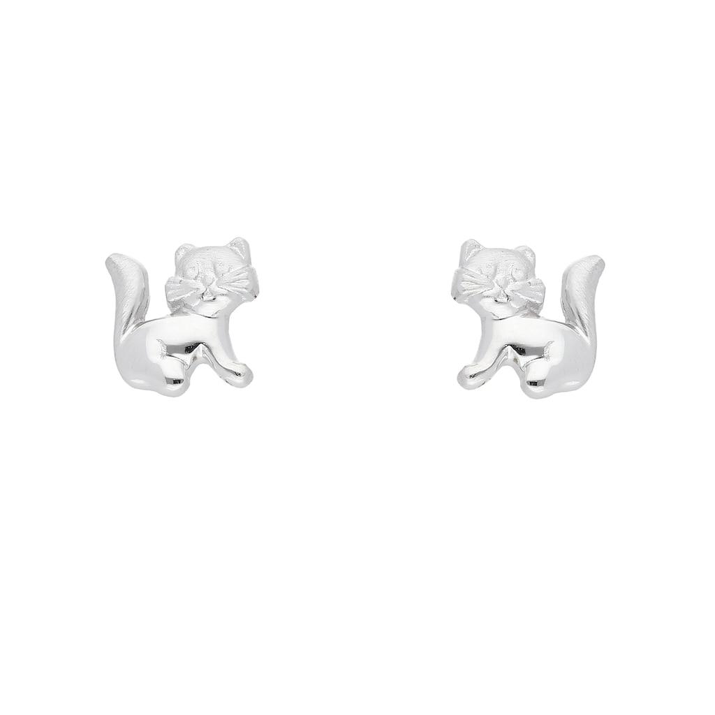 Adelia´s Paar Ohrstecker »925 Silber Ohrringe / Ohrstecker Katze«, Silberschmuck für Damen