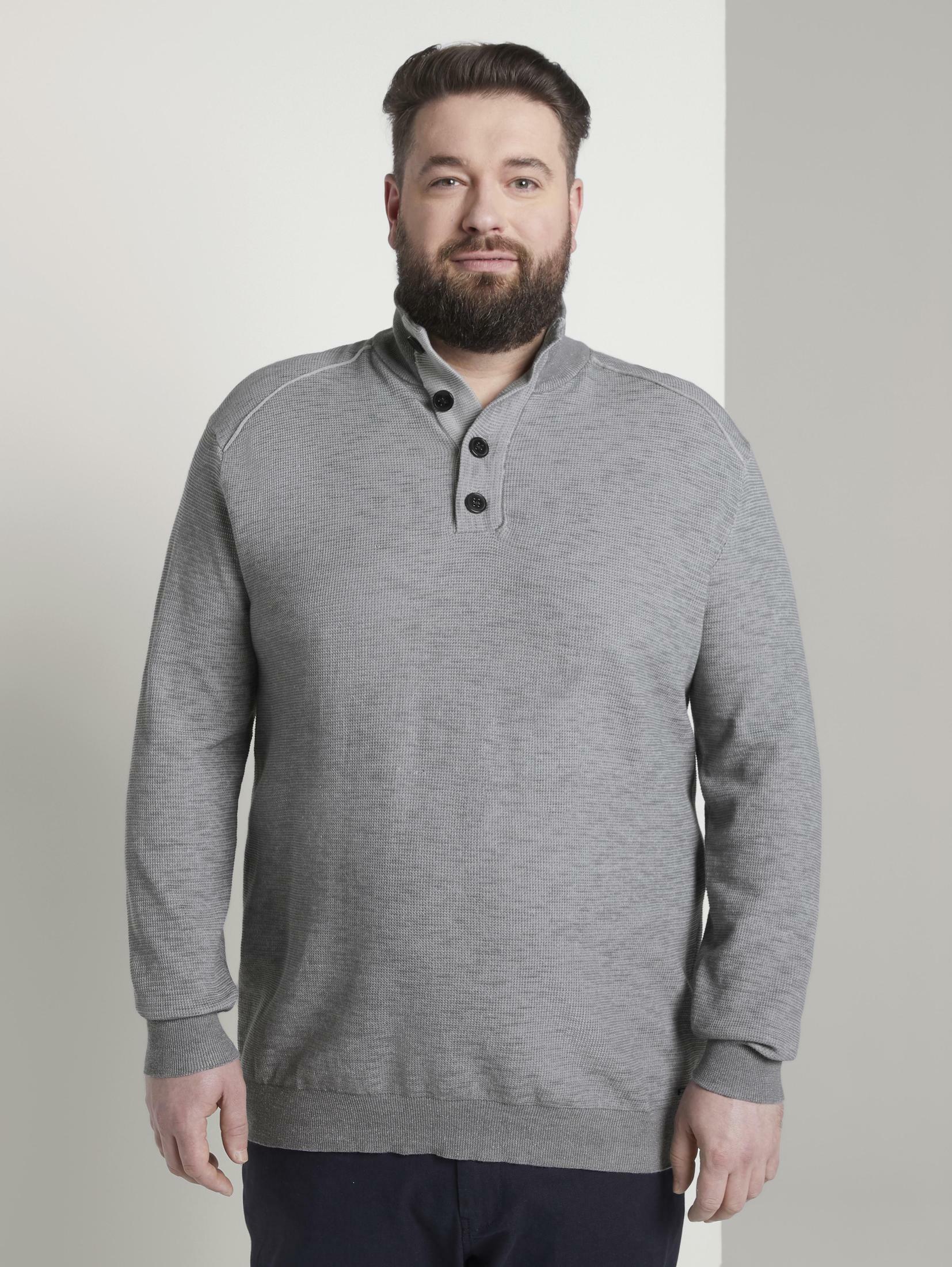 tom tailor men plus -  Stehkragenpullover Strickpullover mit Stehkragen