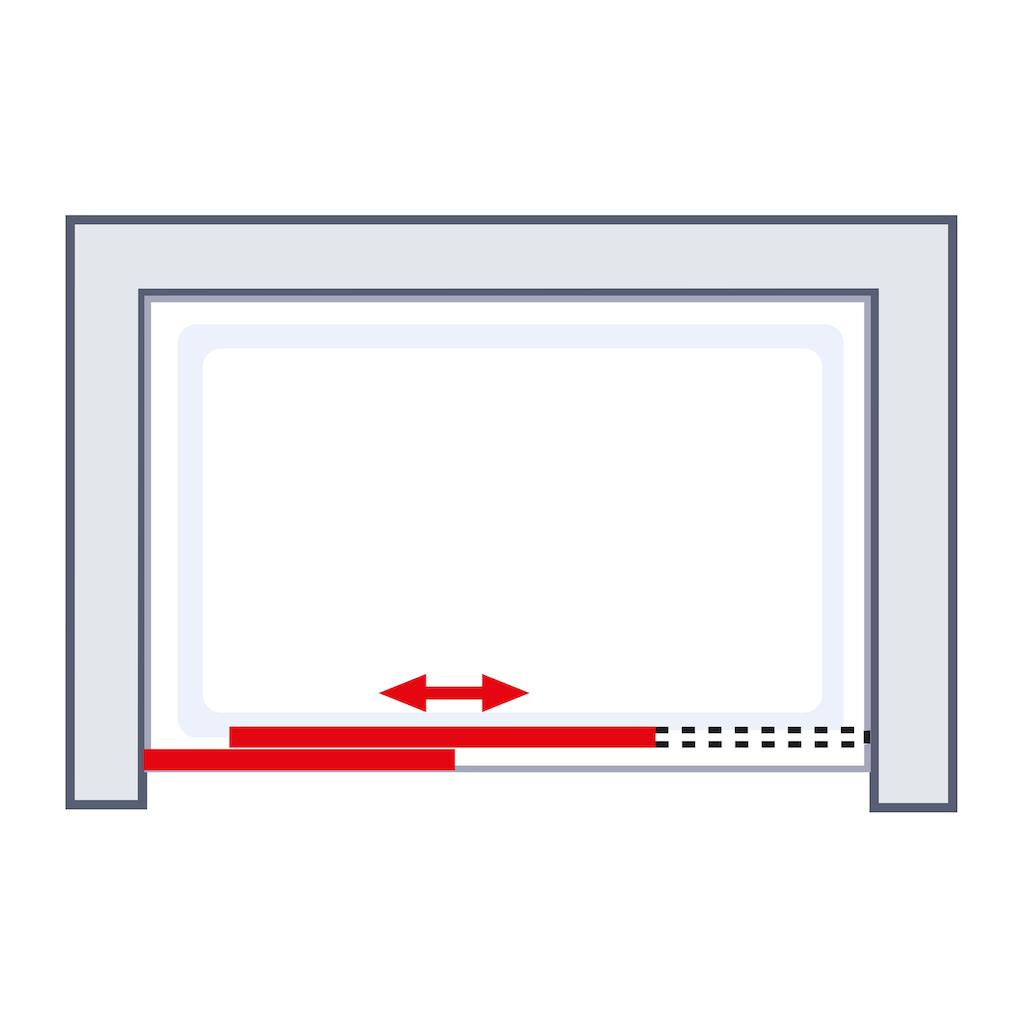 Schulte Schiebetür »MasterClass«, mit kugelgelagerter Laufschiene