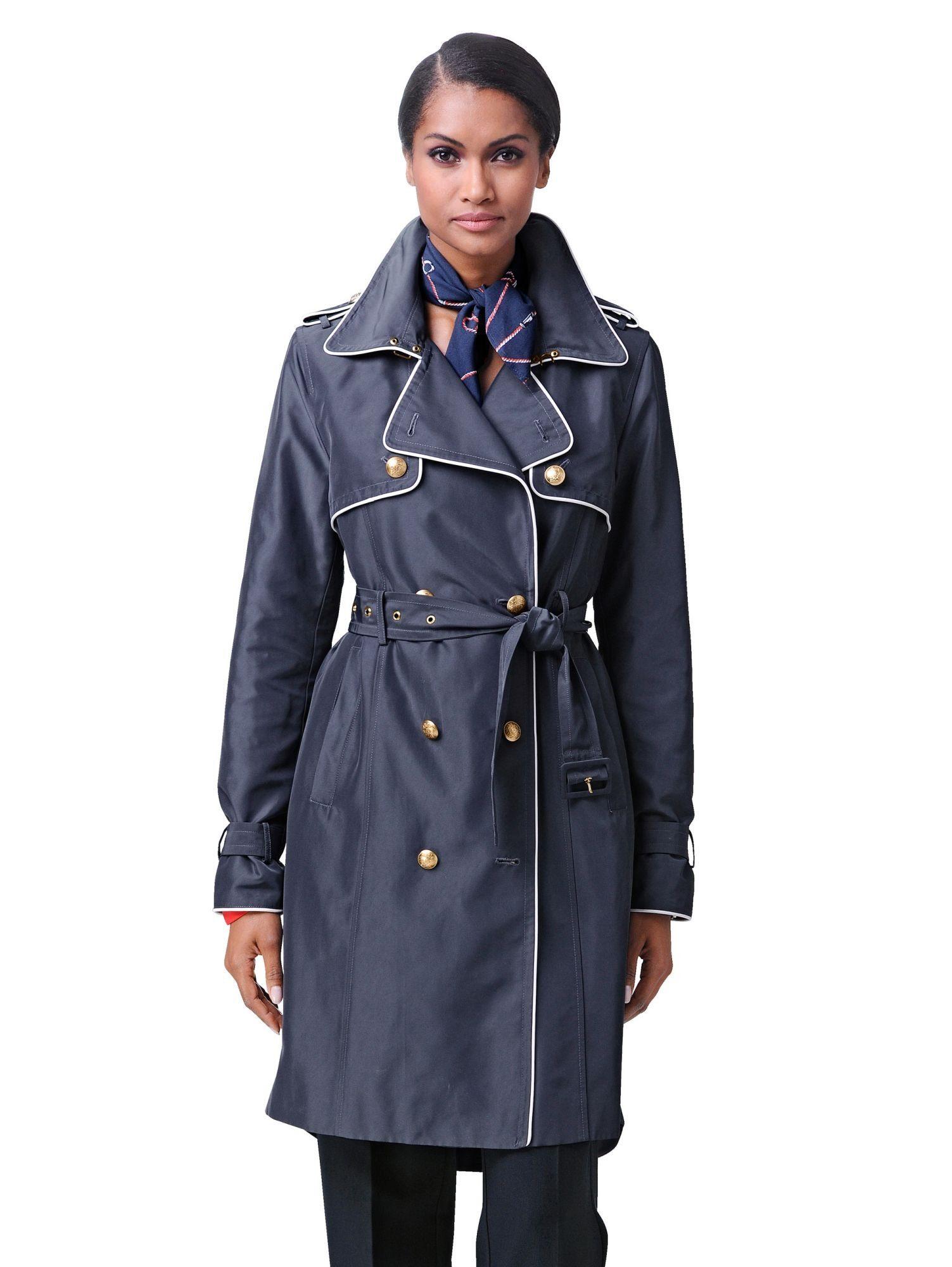 Alba Moda Trenchcoat mit goldfarbenen Knöpfen | Bekleidung > Mäntel > Trenchcoats | Blau | Polyester | ALBA MODA