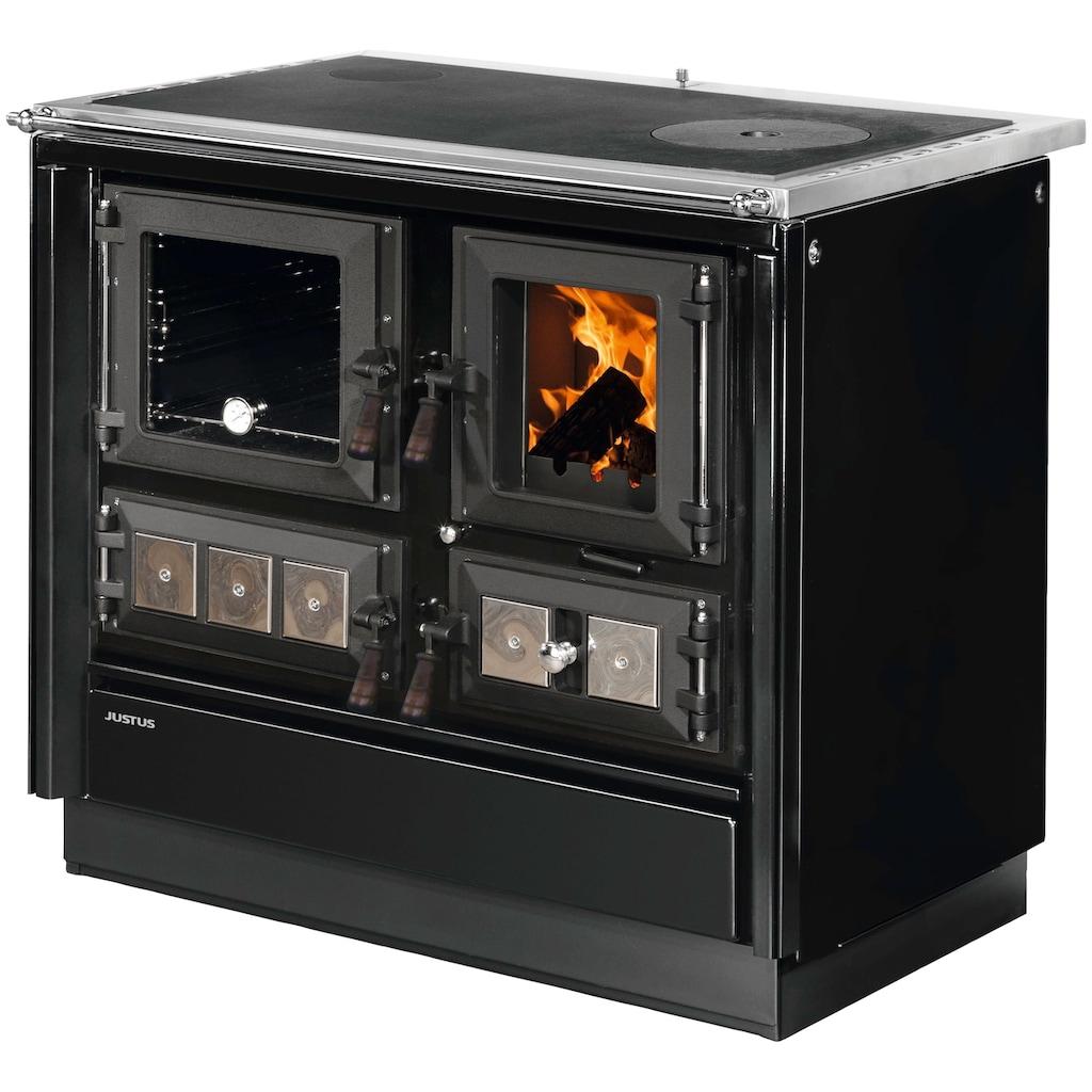 JUSTUS Festbrennstoffherd »Rustico-90 2.0«