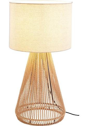 LeGer Home by Lena Gercke Tischleuchte »Zuri«, E27, 1 St., Tischlampe, Ø 30 cm, Höhe 60 cm, Fuß Drahtgestell mit Sisalschnurr, Leinenschirm / Stoff - beige kaufen