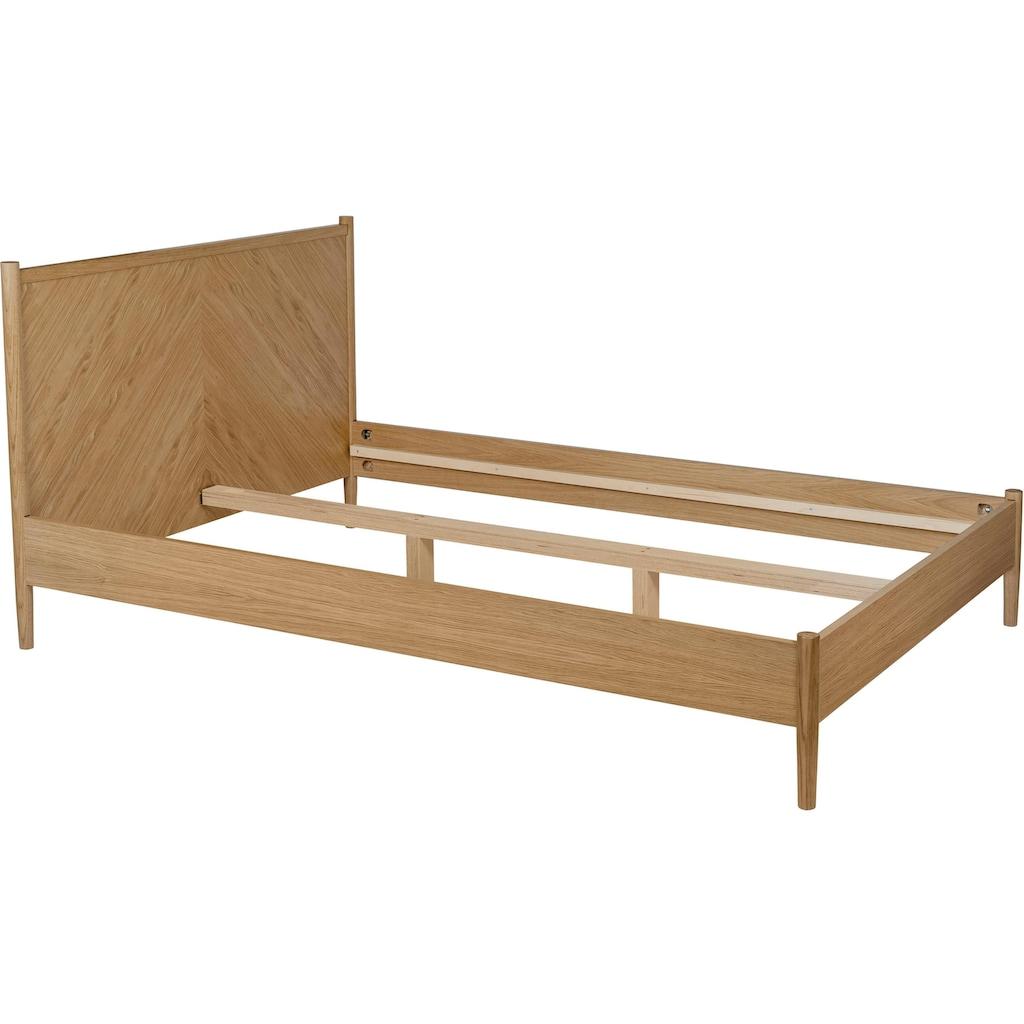 Woodman Massivholzbett »Farsta 2«, im skandinavischen Design